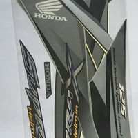 lis body/Striping Honda Supra X 125 Helm in 2011-12 Lux.Gray Hitam Abu