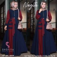 Baju Wanita Nagita Dress Grosir Maxi Dress Syari Murah
