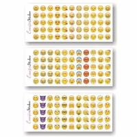 Stiker Emoji Emoticon Sticker 1 set 3 lembar