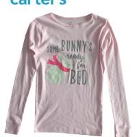 Baju Kaos Anak Perempuan Lengan Panjang Carter Pink Muda