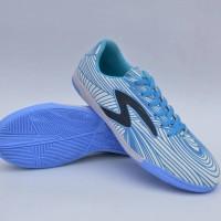 sepatu futsal specs barricada ultra putih biru list htam murah