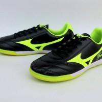 Sepatu Futsal Mizuno Fortuna Archer Hitam List Hijau Import