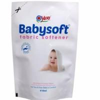 Yuri BabySoft Fabric Softener Refill 410 ml/Pelembut Pakaian Bayi