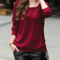 Baju atasan wanita - blouse murah - baju cewek - kaos lengan panjang