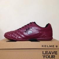 Sepatu futsal / putsal / footsal Kelme Power Grip Maroon Black 1102130