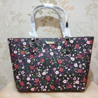 tas Kate Spade Medium Dally Zip Top Tote Boho Floral Black Multi ori