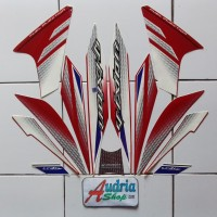 Striping Stiker Motor Yamaha New Vixion 2014 Merah