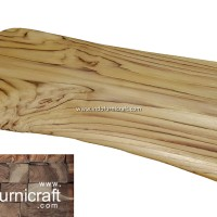Talenan kayu jati asli ukuran M finishing natural halus-unik-foodgrade