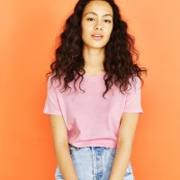 8TEEN T-shirt Kaos Wanita Polos Warna Pink Basic T-shirt Cotton
