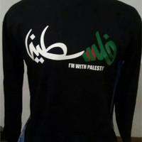 Baju / Kaos lengan panjang Palestin Longsleve palestina size S - XXL
