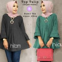baju atasan tunik/baju tunik/baju muslim/baju hamil/tulip top/gl58467