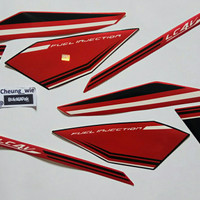Lis body/ Striping Yamaha New Vixion Advance NVA 2015 Hitam Merah