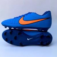 sepatu bola nike tiempo biru list orange murah
