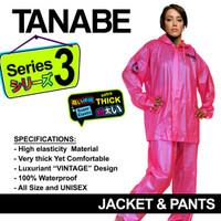 Jas Hujan Wanita Setelan Jaket Celana TANABE S3 Tebal All Size M L XL