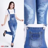 Jumpsuit Panjang Jeans wanita skinny Celana kodok cewek panjang
