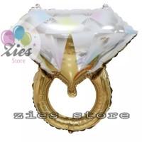 balon foil cincin berlian / balon foil Diamond Ring gold