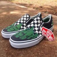 Sepatu Vans Slip On Slop Checkerboard Catur Hulk Marvel Import Premium
