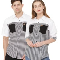 baju kemeja couple pria wanita casual pasangan serasi keluarga C6