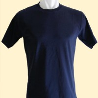 Size XXL - Kaos Polos Murah Biru Navy / Dongker Cotton Combet 20s