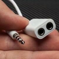 Spliter 2 in 1 Konektor AUX kabel 2 in 1 Splitter Audio