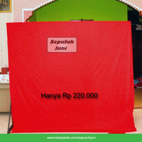 Background Foto Merah Polos 3x2,7 Meter