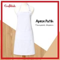 Apron/celemek polos - putih (white)