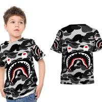 kaos baju anak Bape shark art 1