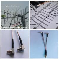 Antena Penguat Sinyal Yagi 12 El 2 Pigtail Modem E3276 E3372 E3272