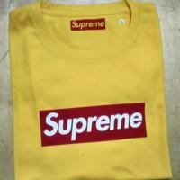 kaos t-shirt pria Supreme yelow
