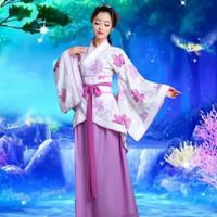 Baju Pakaian Adat Puteri Kostum Cina China Jubah Kerajaan Hanfu Kuno