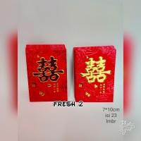 8x6cm angpao shuangxi.angpao sangjit mini