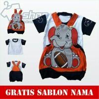 Baju Bayi Karakter Gajah Jumper Kodok Bayi Gajah