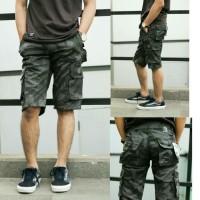 Celana Pendek Cargo Camo Premium Army Grey