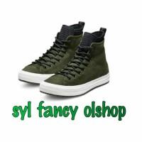 Sepatu Converse Men CT Hi Waterproof Boot Green Hijau Army Original