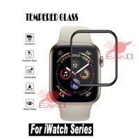 Tempered Glass Full Black Apple Watch 42mm Series 3 Anti Gores Kaca
