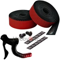 CICLOVATION Bar Tape Leather Touch - Fusion Series BLACK RED