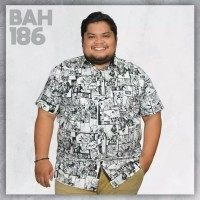 Kemeja Big Size Motif Abstrak Fashion Casual Formal Baju Pria Jumbo Ga