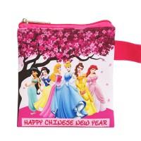 Dompet Pouch Angpao Imlek Princess Disney Sincia Chinese New Year CNY