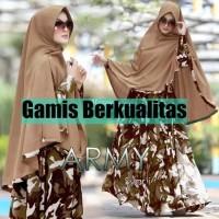 Baju Gamis Muslim Syari Army