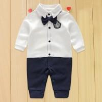 Baju pesta bayi laki cowok jumper romper baby boy dasi formal keren ok