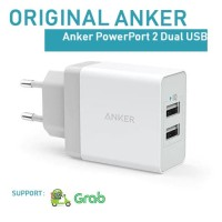 Anker PowerPort 2 Dual USB Wall Charger White ( NOT AUKEY, SAMSUNG )