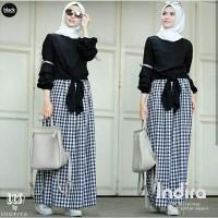 indira set - Setelan muslimah wanita - Rok kotak - Baju gamis muslimah