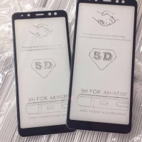 TEMPERED GLASS SAMSUNG A8 2018 5D FULL LEM COVER ANTI GORES KACA