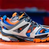 Sepatu Balenciaga Track Sneakers Orange White Blue Premium Original