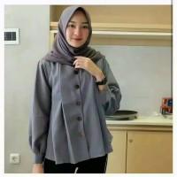 Shamira Top Blouse/Kemeja Wanita Lengan Panjang/Baju Atasan Muslimah