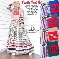Baju Setelan Wanita Atasan Rok Camila Fendi Set Galery