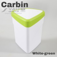 Carbin - tempat sampah mini di mobil meja - White green