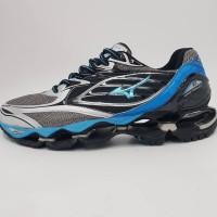 Sepatu Volly MIZUNO WAVE PROPHECY 6 GRAY BLUE Grade Original