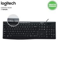 Keyboard Logitech USB K200 Multimedia Keyboard Komputer Logitec