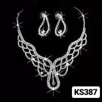 Kalung anting set pesta bridal KS387